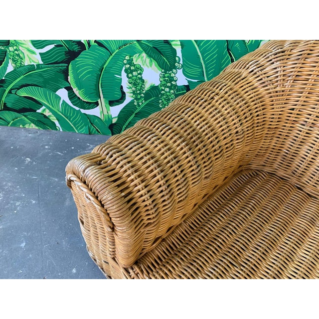 Sculptural Wicker Chair in the Manner of Michael Taylor For Sale - Image 6 of 9