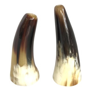 Genuine Buffalo Horn Shakers - A Pair