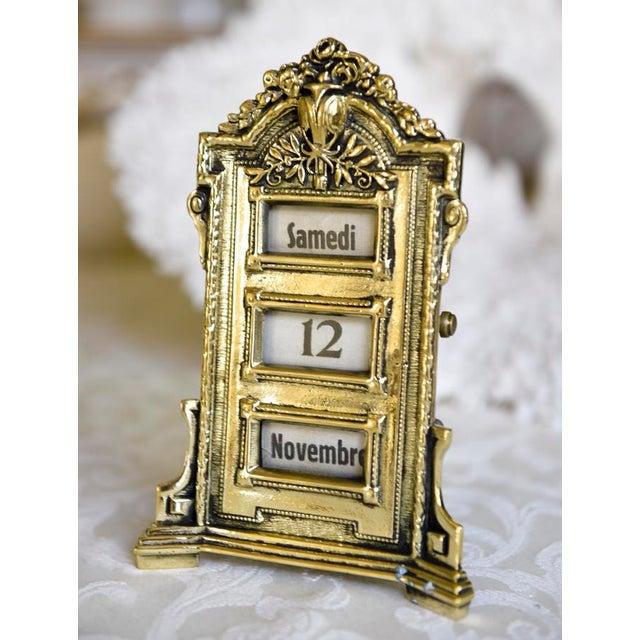 Antique French Perpetual Calendar - Image 5 of 5
