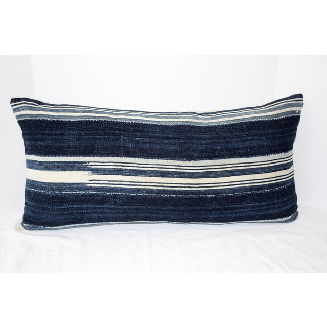 Vintage Mali Indigo Textile Pillow - Image 2 of 5