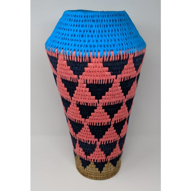 African Woven Vase - Made in Swaziland For Sale - Image 13 of 13