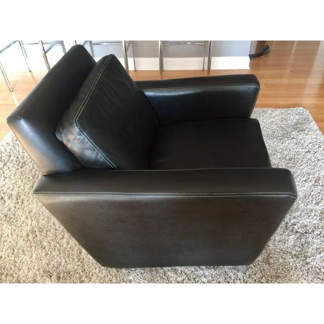 Jensen-Lewis Black Genuine Leather Chair - Image 10 of 10