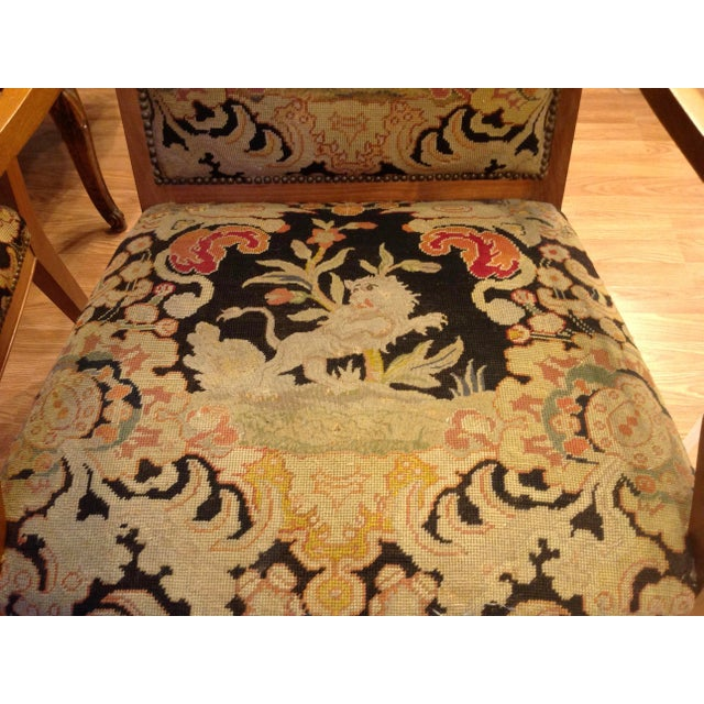 Pair of Italian Neoclassic Armchairs For Sale - Image 12 of 13