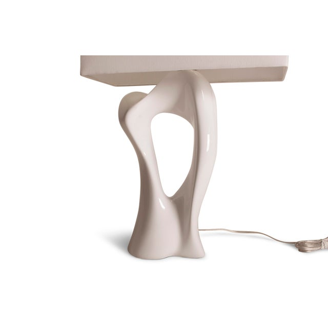 Amorph Vesta White Lacquered Table Lamp For Sale - Image 9 of 10