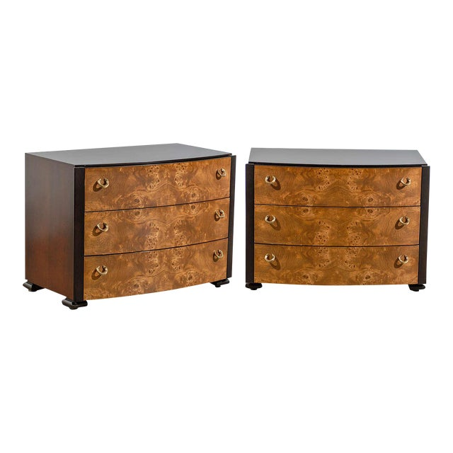 Vintage Pair of Hickory White End Tables/Night Stands For Sale