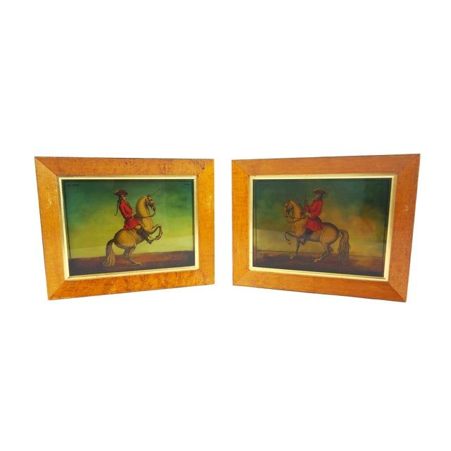 Prussian Soldiers & Their Noble Steeds Print - a Pair For Sale