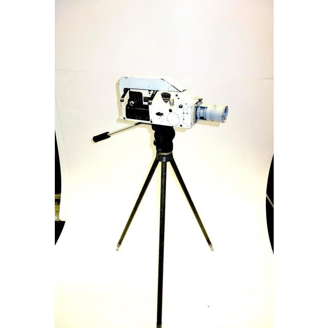 Metal Military Analysis Cinema Camera. Circa Mid 20th Century. Display As Sculpture. On Vintage Tripod. For Sale - Image 7 of 7