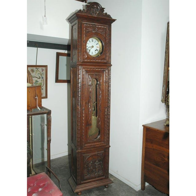 This 19th century grandfather clock is from the Brittany area of France and has stood the test of time very well. Standing...