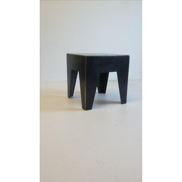 Industrial Metal & Bronze Milking Stool For Sale - Image 3 of 5