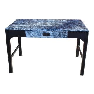 """Crinkle"" White & Black Desk For Sale"