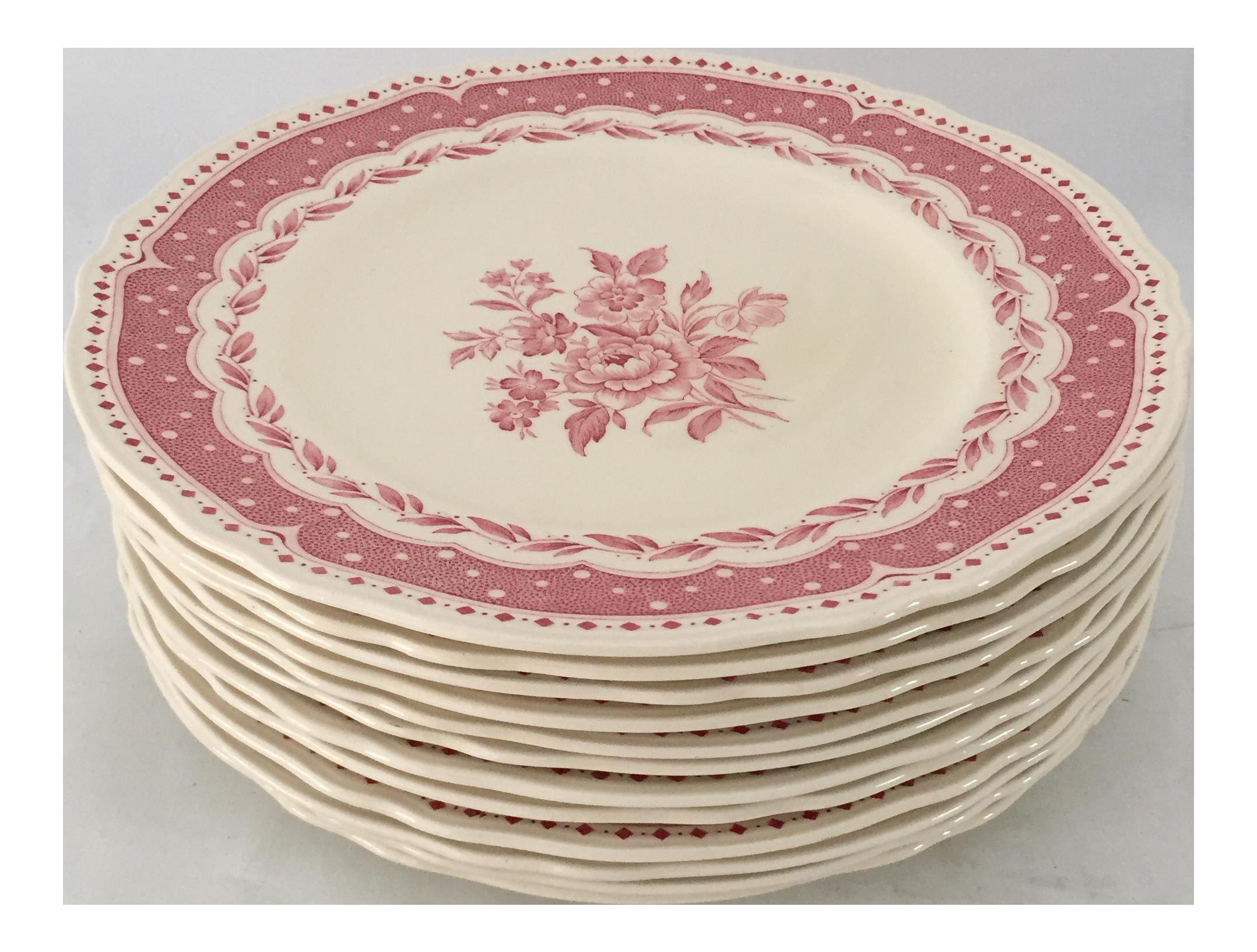 Vintage Avon Pattern Grindley-England Dinner Plates - Set of 12  sc 1 st  Chairish & Vintage Avon Pattern Grindley-England Dinner Plates - Set of 12 ...
