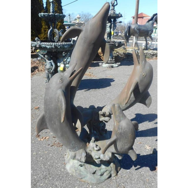Bronze Dolphin Fountain - Image 5 of 5