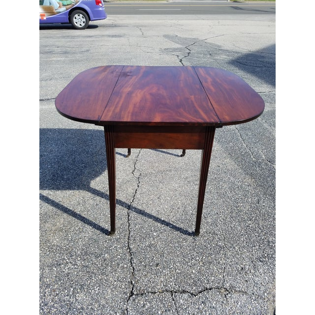 Late 18th Century Americana Mahogany Pembroke Table For Sale - Image 9 of 9