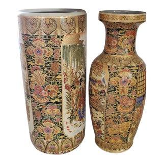 1950s Set of Royal Satsuma Vases For Sale
