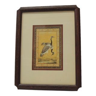 Vintage Engraving of Cranes Stamped Oriental Birds by Winsor Art For Sale