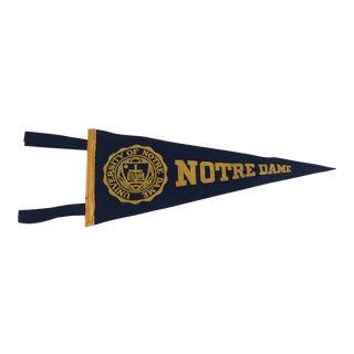 Vintage Notre Dame Felt Flag Pendent For Sale