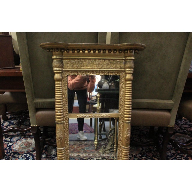 Early 20th Century Art Nouveau Gold Two Section Mirror For Sale - Image 5 of 9