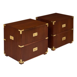 English Campaign Chest Side Tables For Sale