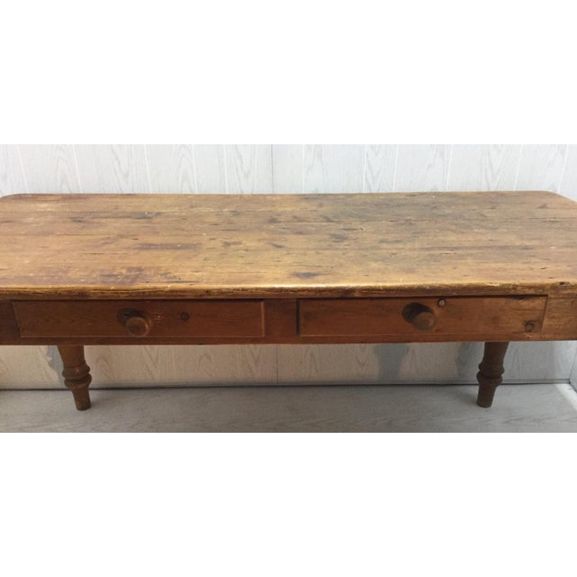 Farm Table With Drawers - Image 6 of 8