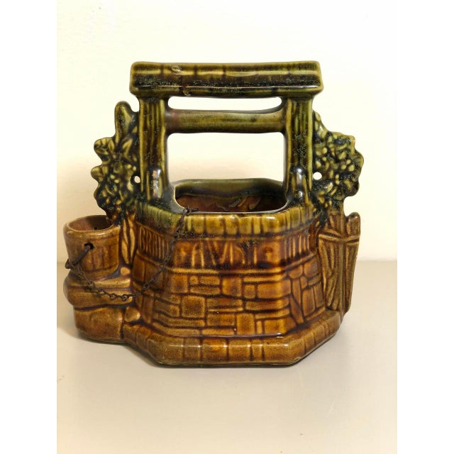Ceramic McCoy Pottery 1940s – 1960s Mid-Century Wishing Well Flowerpot. For Sale - Image 7 of 7