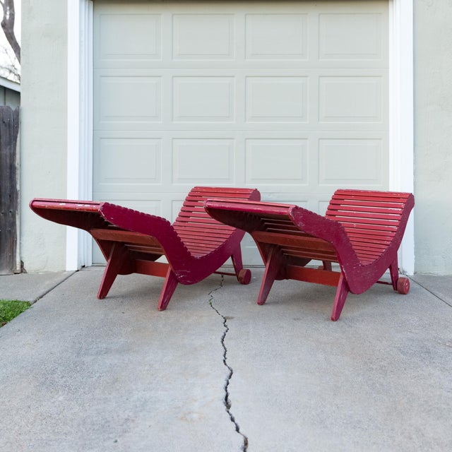 Arts & Crafts Klaus Grabe C5 Plywood Chaise Lounges - A Pair For Sale - Image 3 of 13