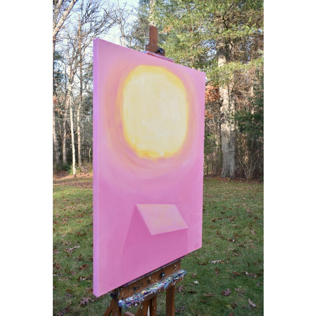 """Pink Stephen Remick """"Good Morning, Sunshine"""" Contemporary Painting For Sale - Image 8 of 12"""