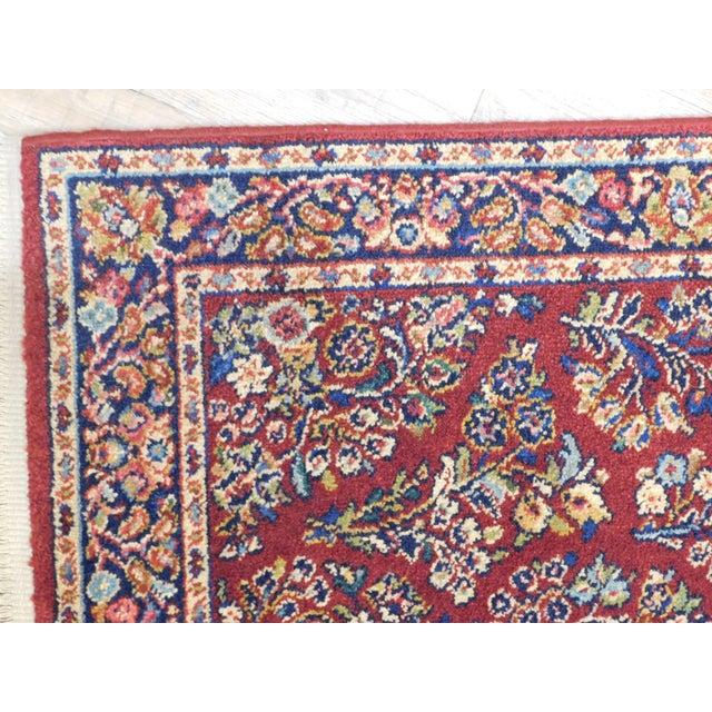 Karastan Red Sarouk #785 Rug 5' x 2' Multicolor Area Throw Rug For Sale In Philadelphia - Image 6 of 13