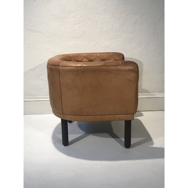 1960s Vintage Cassina Figli DI Amedeo Tufted Leather Club Chair For Sale In San Francisco - Image 6 of 12