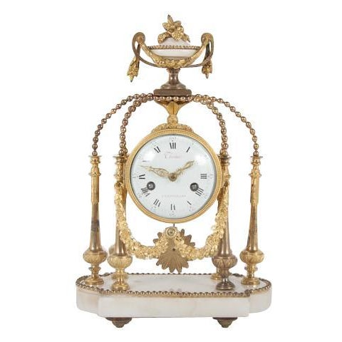 18th Century Gilt Bronze French Portico Clock For Sale - Image 12 of 12