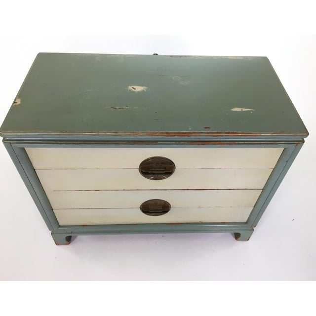 Asian Inspired Mid-Century Modern Solid Wood Bachelor Chest of Drawers For Sale - Image 4 of 13