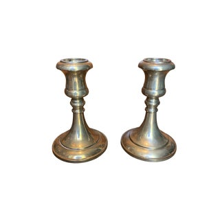 1940s Sheffield Silver Candlesticks - a Pair For Sale