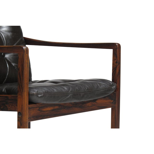 Ole Wanscher Rosewood Lounge Chairs in Original Leather - a Pair For Sale - Image 9 of 11