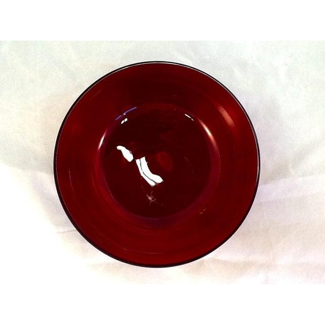 Vintage Cranberry Glass Bowl - Image 4 of 5