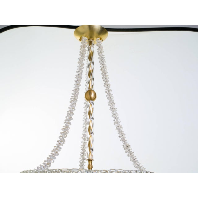 Murano Glass and Swarovski Crystal Chandelier For Sale - Image 10 of 11