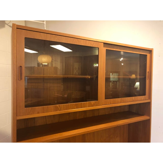Wood Poul Hundevad Teak Sideboard With Display Hutch For Sale - Image 7 of 10