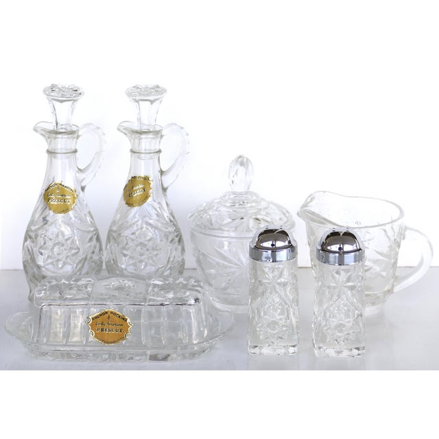 American Anchor Hocking Prescut Early American Glass Serving Set-Set of 7 For Sale - Image 3 of 9