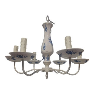 Vintage used queen anne chandeliers chairish delft porcelain chandelier mozeypictures Choice Image