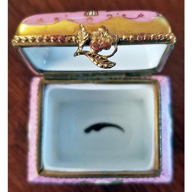 Limoges, France Vintage Limoges Sarcophagus Ring Box For Sale - Image 4 of 12