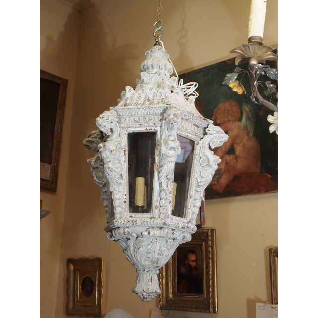 Italian Carved Wood Lantern For Sale - Image 9 of 9