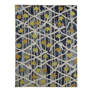 Contemporary Abstract Rug with Modern Moroccan Style For Sale