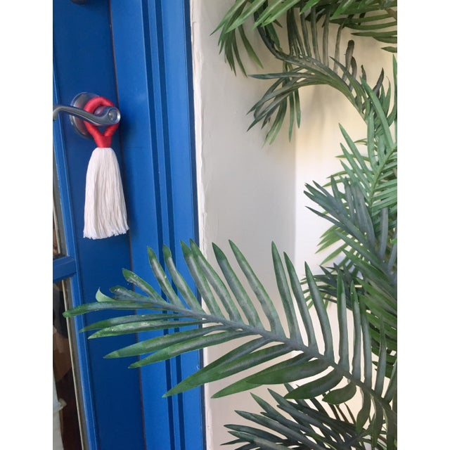 Contemporary Minimalist 'Hula' Tassel Door Hanger For Sale - Image 3 of 5