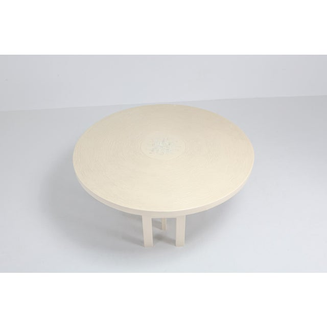 Gold Jean Claude Dresse Exceptional Resin Dining Table For Sale - Image 8 of 9
