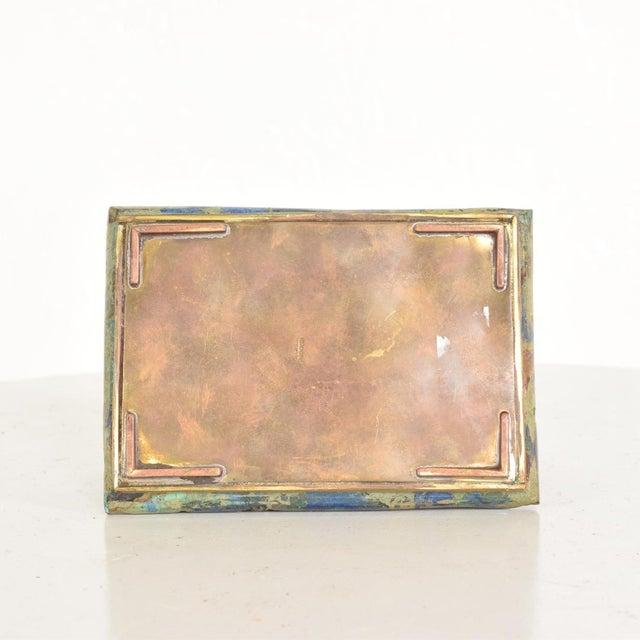 Los Castillo Mid-Century Mexican Modernist Malachite & Brass Small Trinket Box For Sale - Image 4 of 9