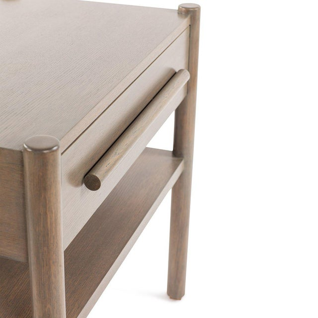 Not Yet Made - Made To Order Lombardy Nightstand - Large in Gray For Sale - Image 5 of 6