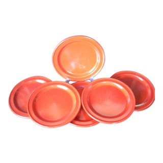 Emile Henry Red Dinner Plates - Set of 6