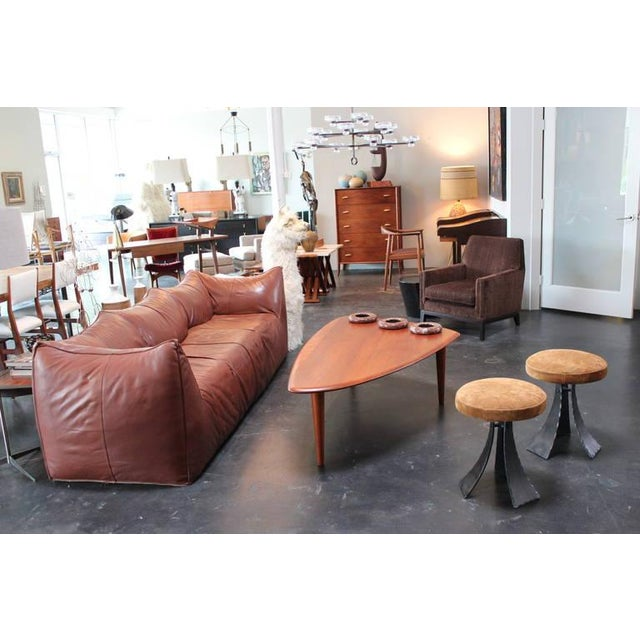Pair of Forged Steel Stools Designed by John Baldasare For Sale - Image 9 of 10
