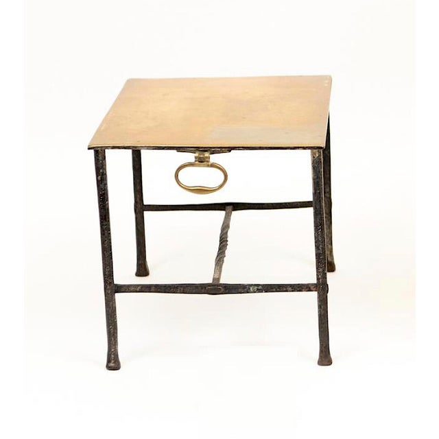 Charming brass and wrought iron pot stand. Perfect sitting on the hearth or in your kitchen. Originally coals were placed...
