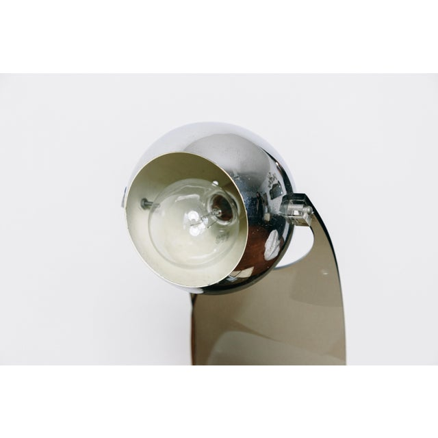 Robert Sonneman Vintage Smoked Lucite Eyeball Arc Lamp For Sale - Image 4 of 8