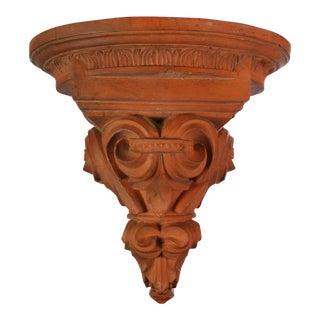 Large Terracotta Corbel Wall Bracket For Sale