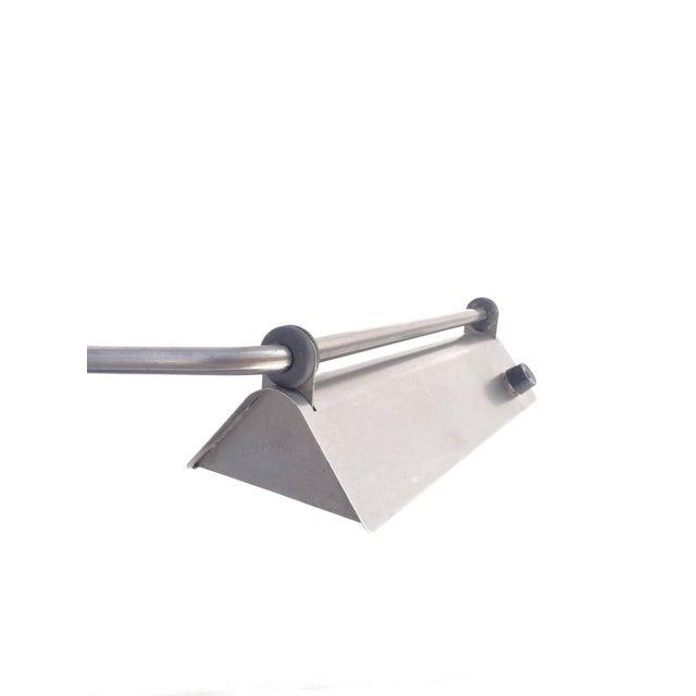 Gray Ron Rezek Raw Steel Desk Lamp For Sale - Image 8 of 10